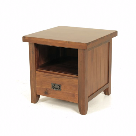 Roscrea Acacia Lamp Table with Drawer